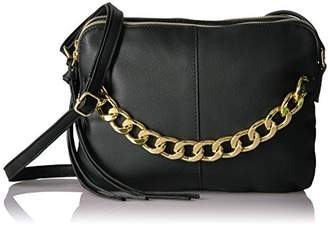 T-Shirt & Jeans Double Zip Cross Body with Chain Detail