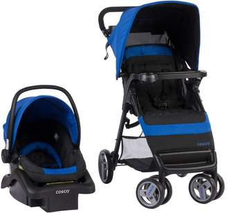 Cosco Simple Fold Travel System with Light and Comfy 22 Infant Car Seat