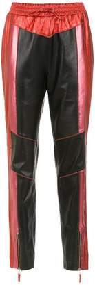 Nk metallic leather trousers