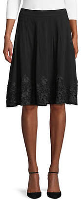 Karl Lagerfeld PARIS Pleated Knee-Length Skirt