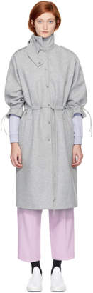 Carven Grey Coulisse Coat