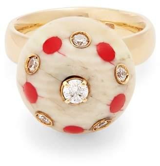 Francesca Villa Pois diamond & yellow-gold ring