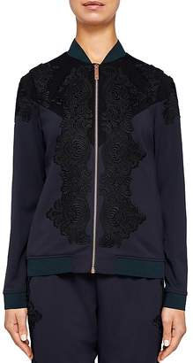 Ted Baker Ted Says Relax Sadiet Lace-Detail Bomber Jacket