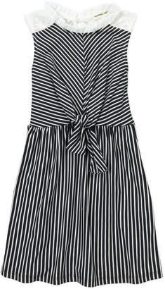 Monteau Girl (Girls 4-6x) Stripe Tie-Front Dress