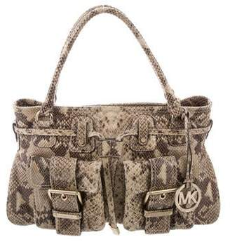 MICHAEL Michael Kors Patent Leather Buckle Tote