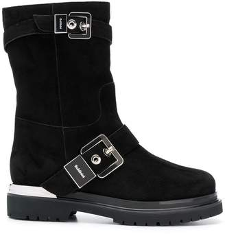 Baldinini silver buckled boots