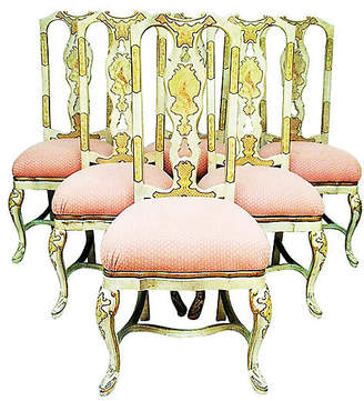 One Kings Lane Vintage Queen Anne-Style Dining Chairs - Set of 6