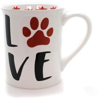 "Enesco 4.5"" Love My Furry Pet Glitter Mug Dog Cat Pets"
