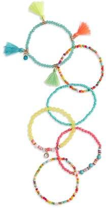 Cara Rainbow Tassel Bracelet