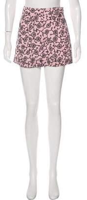 Nina Ricci Printed High-Rise Shorts