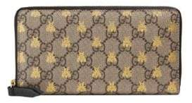 Gucci Linea A Zip Monogram Continental Wallet