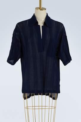Acne Studios Bennat sheer cotton top