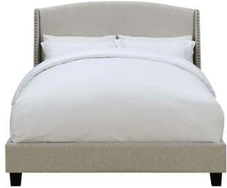 Lark Manor Chambery Shelter Back Queen Upholstered Panel Bed