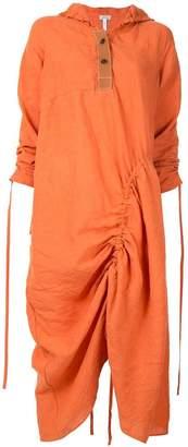 Loewe hooded midi dress