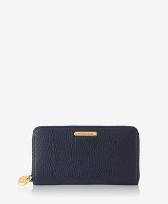GiGi New York Large Zip Around Wallet Pebble Grain