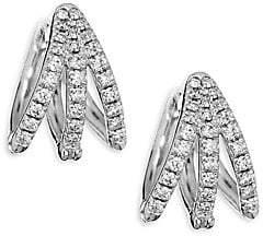 Melissa Kaye Women's Cris Diamond & 18K White Gold Hinged Hoop Earrings