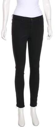 Rag & Bone Zip-Accented Mid-Rise Jeans