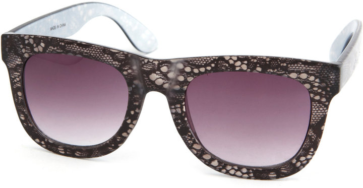 Thick Lace-Print Sunglasses