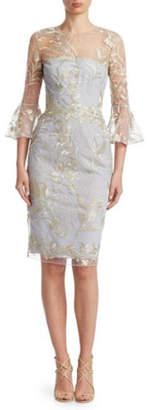David Meister 3/4 Sleeve Dress