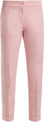 Etro Milano slim-leg cotton-blend cropped trousers