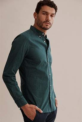 Country Road Slim Melange Gingham Shirt