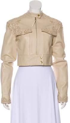 Jonathan Simkhai Leather Embroidered Jacket