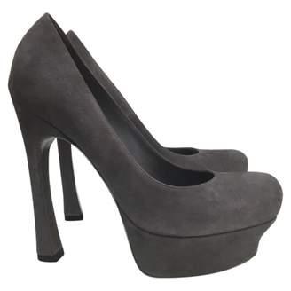 Saint Laurent Grey Suede Heels