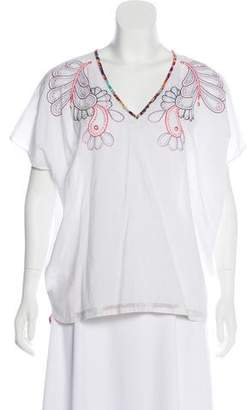 Megan Park Oversize Embroidered Tunic Top