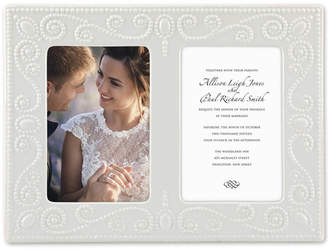 Lenox French Perle Double Invitation Frame
