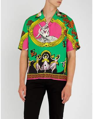 Versace Graphic-print regular-fit woven shirt