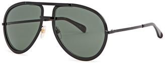 Black Aviator-style Sunglasses