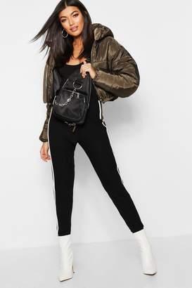 boohoo Crop Hooded Puffer Jacket