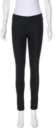 Diane von Furstenberg Mid-Rise Lace Skinny Leggings