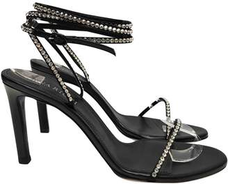 Nina Ricci Black Leather Sandals