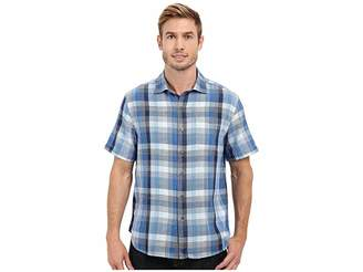 Tommy Bahama Plaid De La Mer Woven Shirt Men's Short Sleeve Button Up