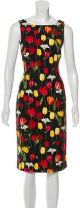 Dolce & Gabbana Sleeveless Printed Dress Black Sleeveless Printed Dress