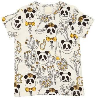 Mini Rodini Panda Printed Jersey T-Shirt