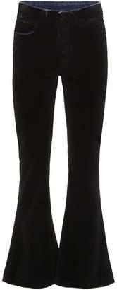 MM6 MAISON MARGIELA Velvet Kick Flare Jeans