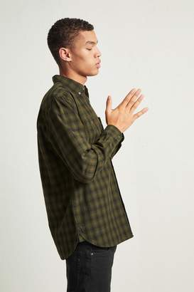 French Connenction Overdyed Ombre Check Shirt