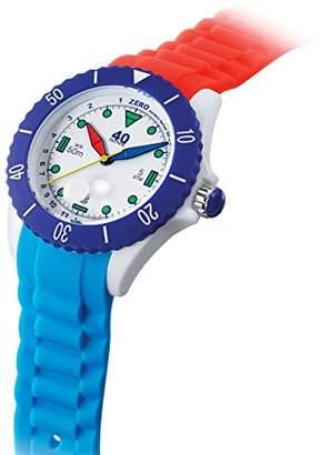 40Nine Quartz Plastic and Silicone Casual Watch