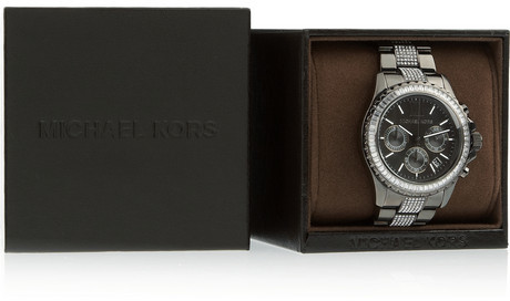 Michael Kors Everest stainless steel chronograph watch