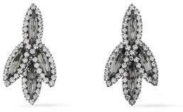 Elizabeth Cole Silver-Tone Crystal Earrings