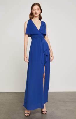BCBGMAXAZRIA Fanella Faux-Wrap Maxi Dress