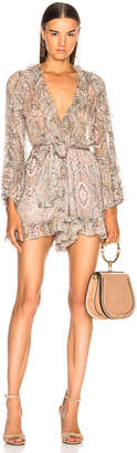 Zimmermann for FWRD Golden Crinkle Playsuit