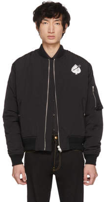 Givenchy Black Creatures Bomber Jacket