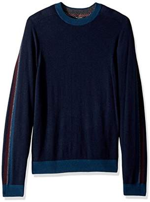 Ted Baker Men's Politan Modern Slim Fit Ls Colour Block Crew Neck