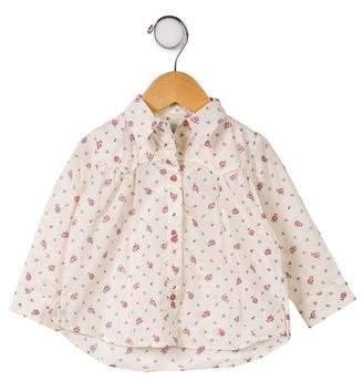 Marie Chantal Girls' Printed Long Sleeve Top w/ Tags