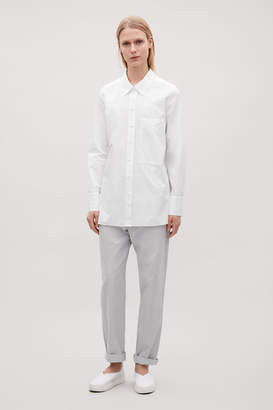Cos POPLIN SHIRT WITH PATCH POCKET