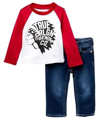 True Religion Scout Raglan 2-Piece Set (Baby Boys)