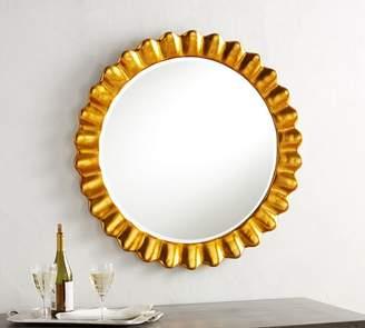 Pottery Barn Gold Leaf Petal Mirror